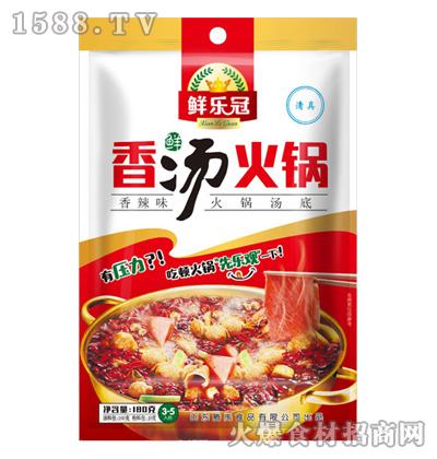 鲜乐冠鲜香汤火锅底料(香辣)180克