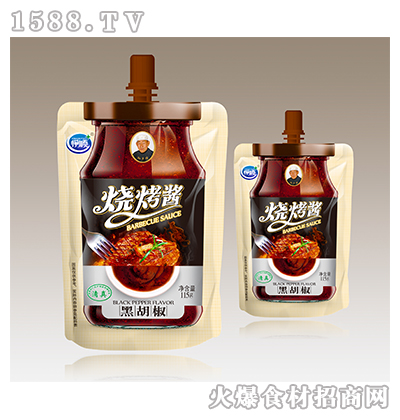 伊顺黑胡椒味烧烤酱115g