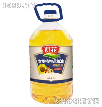 淇花草本黄金食用植物调和油5L