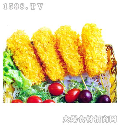 金皇花豆虾串