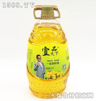 宜品天下一级菜籽油5L