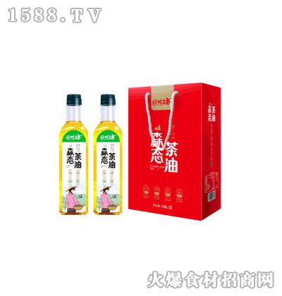 秋味坊森态茶油500mL塑料瓶x2礼盒