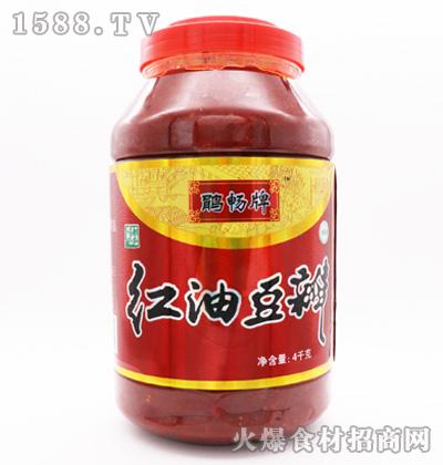 鹃畅牌红油豆瓣-4千克