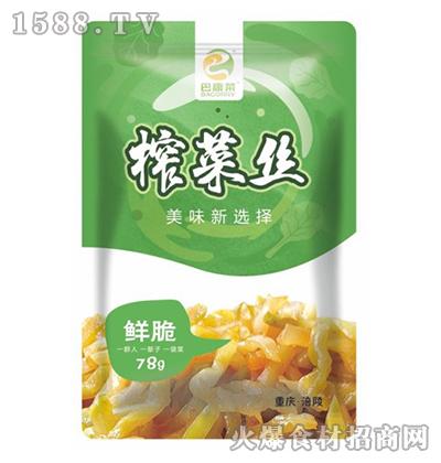 巴康菜榨菜丝78g