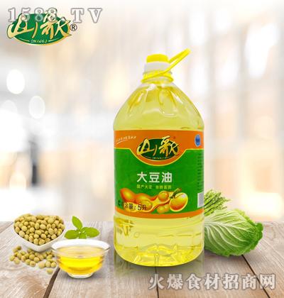 山歌一级大豆油5升