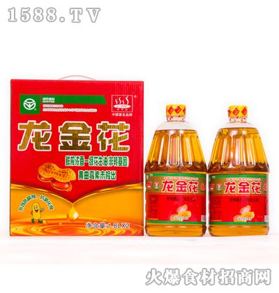 龙金花鲜榨浓香一级花生油1.8Lx2