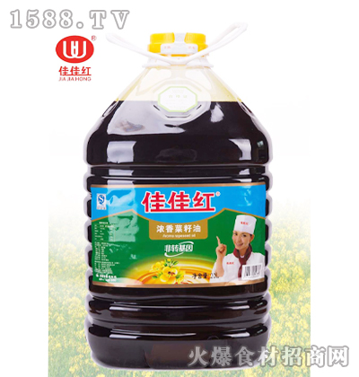 佳佳红浓香菜籽油20L