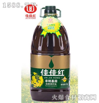 佳佳红纯香菜籽油5L