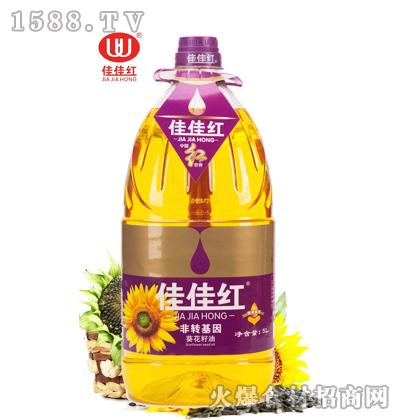 佳佳红葵花籽油5L