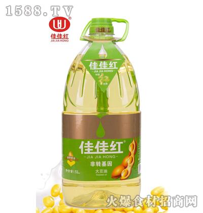 佳佳红大豆油5L