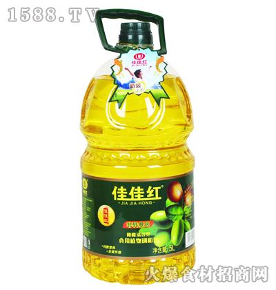 佳佳红橄榄清香型食用植物调和油(新装)5L