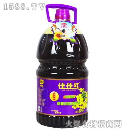 佳佳红浓香川味菜籽油(新装)5L