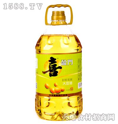 喜盈门非转基因大豆油5L