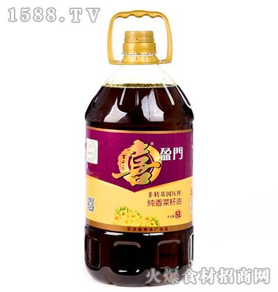 喜盈门非转基因压榨纯香菜籽油5L