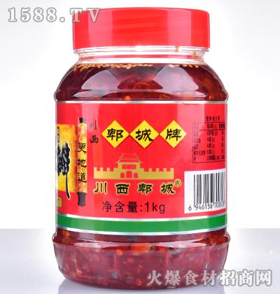 川西郫城牌郫县酿造红油豆瓣1kg