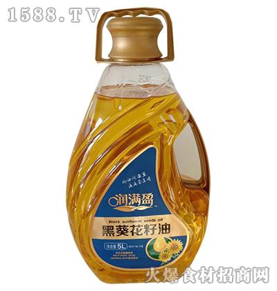 润满盈黑葵花籽油5L