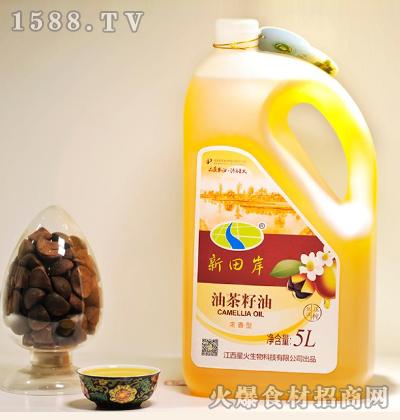 新田岸油茶籽油(浓香型)5L