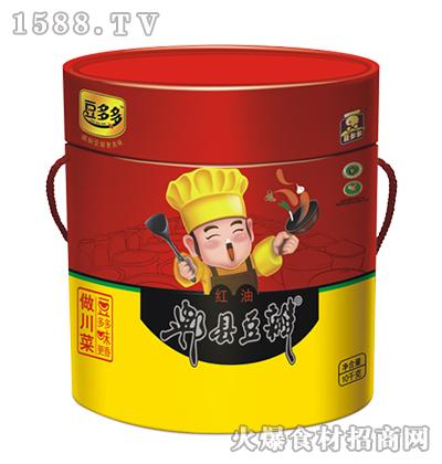 豆多多红油郫县豆瓣10千克桶装