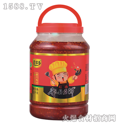 豆多多红油郫县豆瓣3.5千克
