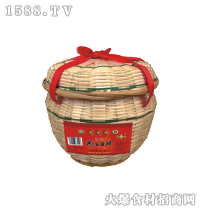 鹃德红油郫县豆瓣1千克竹编礼盒