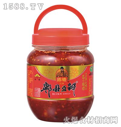 鹃德红油郫县豆瓣500克