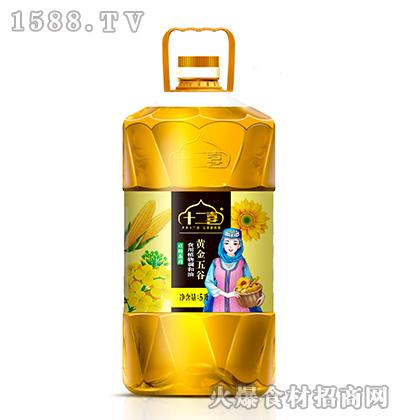 十二喜黄金五谷食用植物调和油5L