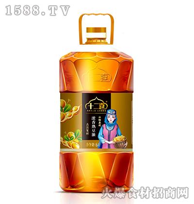 十二喜浓香熟豆油5L