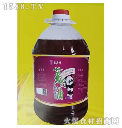 宜嘉香小榨浓香菜籽油5L