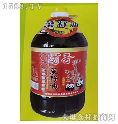 蜀香乐事多小榨浓香菜籽油5L