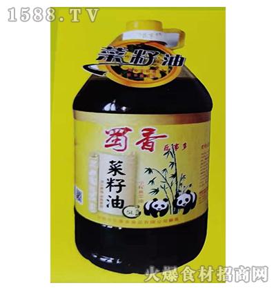 蜀香乐事多小榨黄菜籽油5L