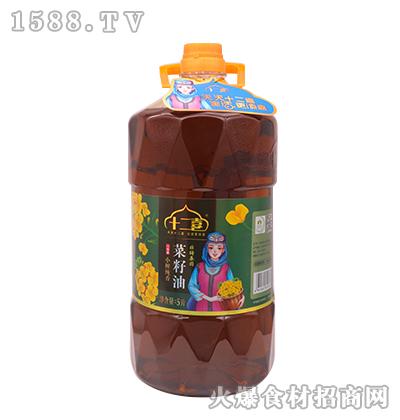 十二喜菜籽油5L