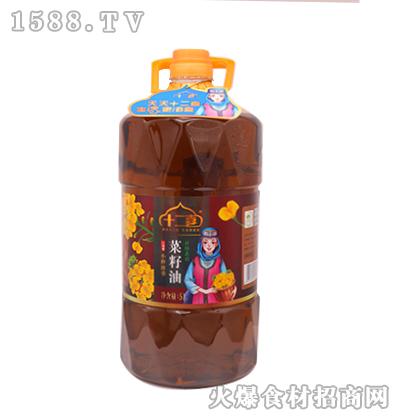 十二喜-小榨浓香菜籽油5L