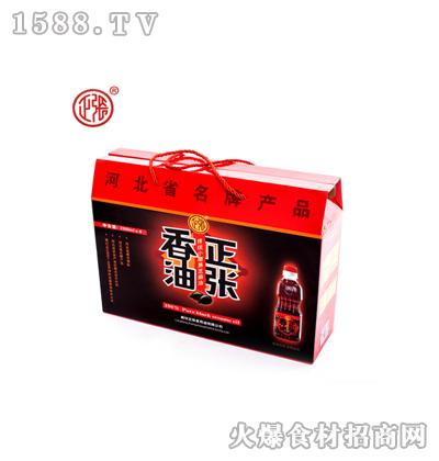 正张黑芝麻香油200mlx4礼盒装