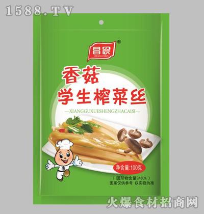 昌晨香菇学生榨菜丝100克