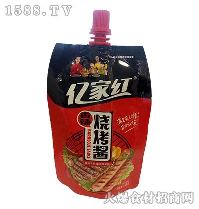 亿家红香辣烧烤酱110克