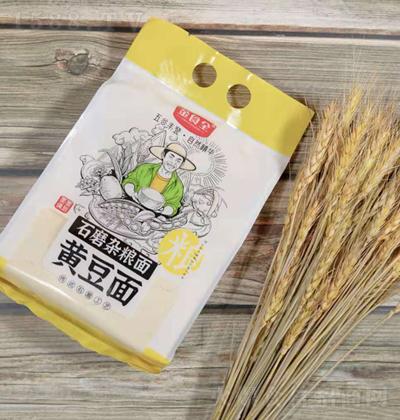 金食全石磨杂粮面-黄豆面【600g】