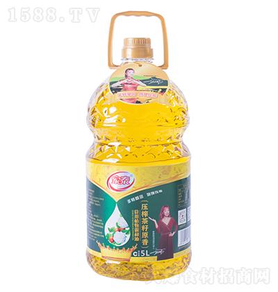 家泰压榨茶籽原香食用植物调和油5L
