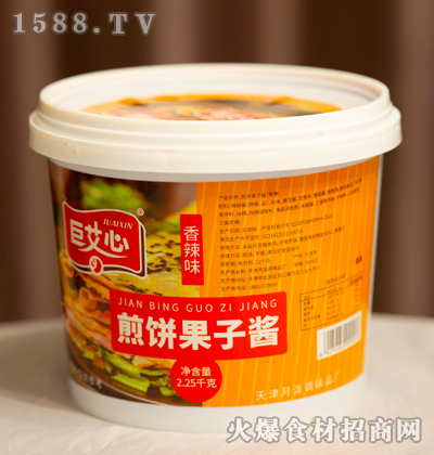 巨艾心香辣味煎饼果子酱【2.25千克】