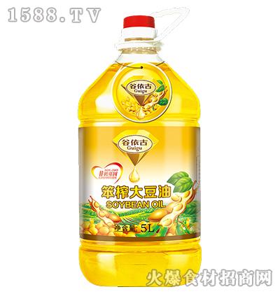 谷依古非转基因笨榨大豆油5L