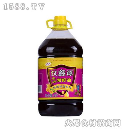 汉鑫源压榨菜籽油5L