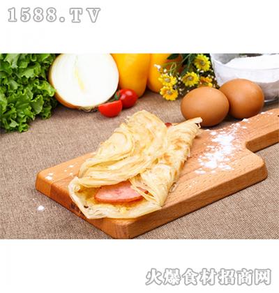 希波1440克培根鸡蛋卷饼