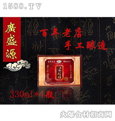 广盛源五粮醇醋礼盒330mlx4瓶