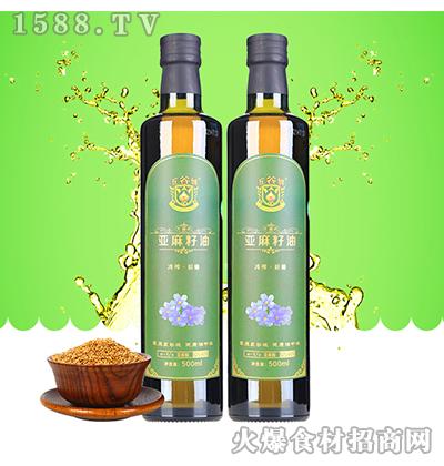 五谷城田园亚麻籽油500ml