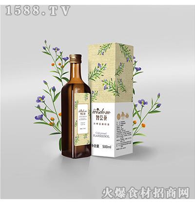 智荟花冷榨亚麻籽油500ml(玻璃瓶)