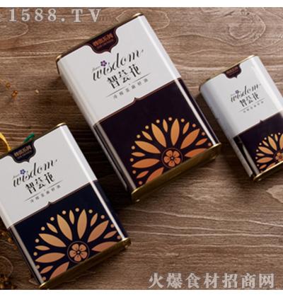 智荟花冷榨亚麻籽油1L(马口铁)