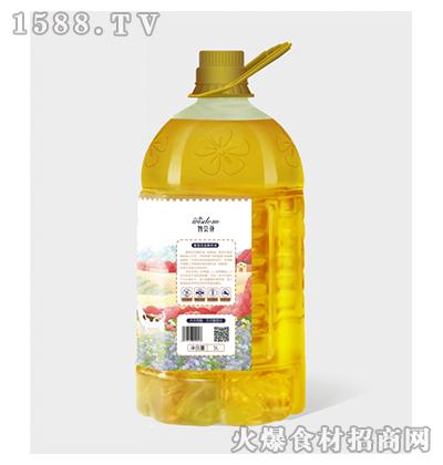 智荟花-冷榨亚麻籽油5L