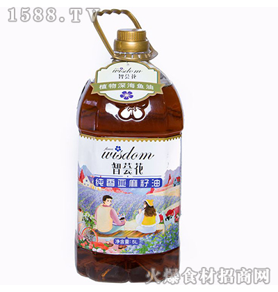 智荟花纯香亚麻籽油5L