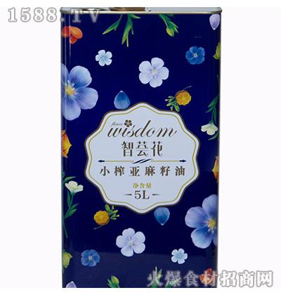 智荟花-小榨亚麻籽油5L
