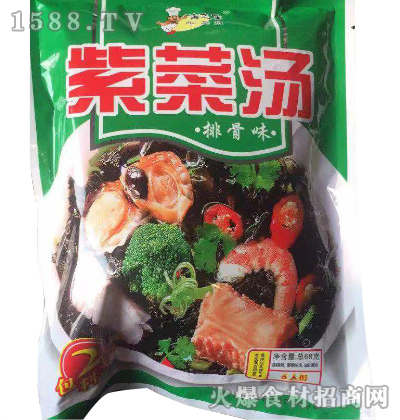 海之佳-排骨味紫菜汤68g
