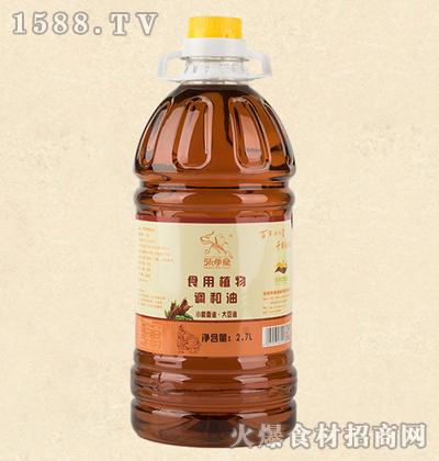 张学堂食用植物调和油(小磨香油/大豆油)2.7L